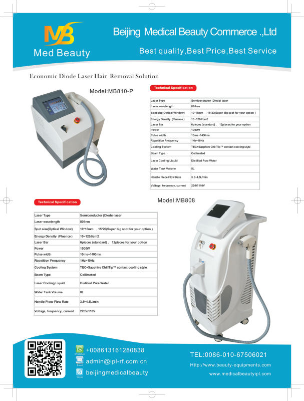 Portable Ipl Permanent Hair Reduction Semiconductor Diode Laser