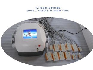 China Abs Plastic Lipo Laser Machine Body Slimming , Weight Loss Machine 12 Pads Diodes Lipo Laser supplier